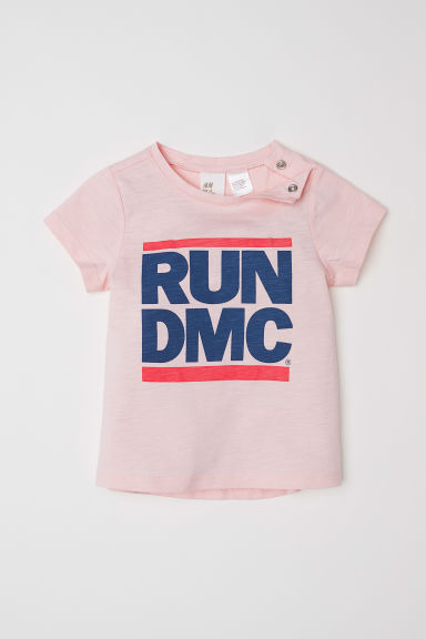 Printed T-shirt - Light pink/RUN DMC - Kids | H&M