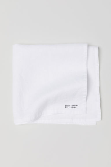 Serviette de table en lin lavé - Blanc - Home All | H&M CA