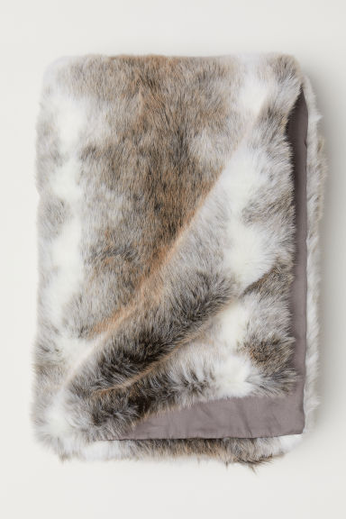 Faux Fur Throw - Gray - Home All | H&M US