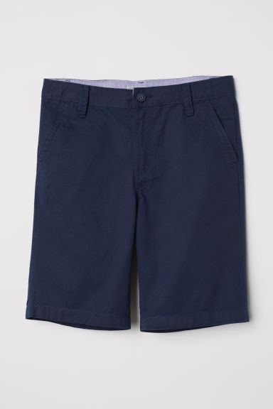 Generous Fit Chino shorts - Dark blue -  | H&M CN