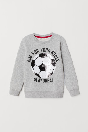 Camisola sweat com motivo