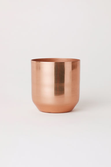 Metal mini plant pot - Copper - Home All | H&M CN