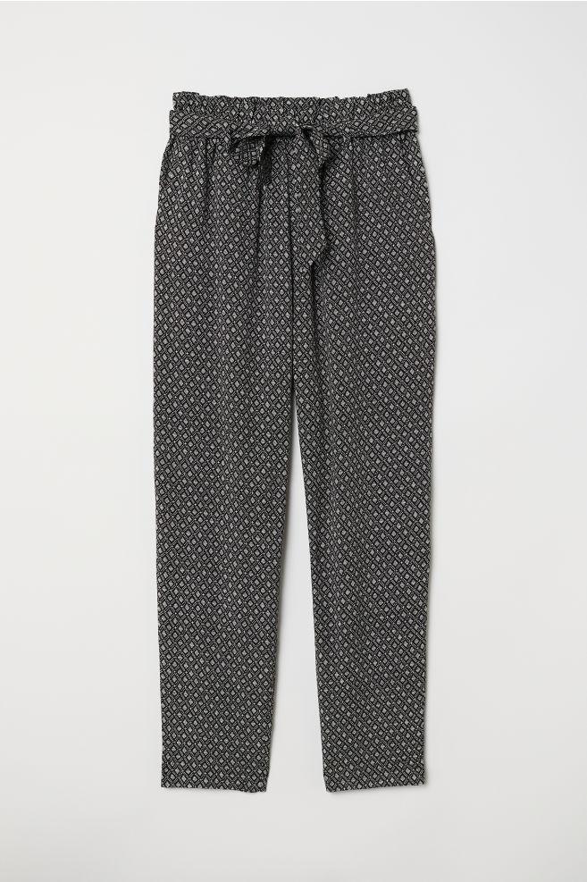 Paper bag nadrág - Fekete mintás - NŐI  59dc9f885a