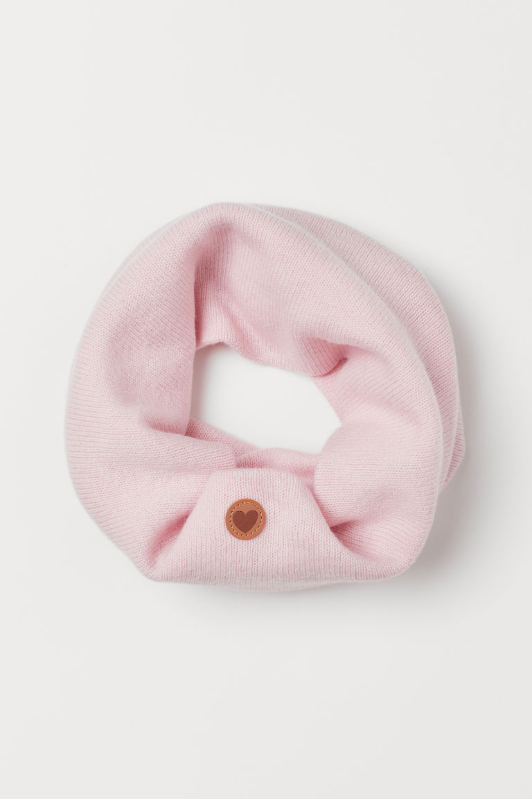 Wool tube scarf - Light pink - Kids | H&M IN