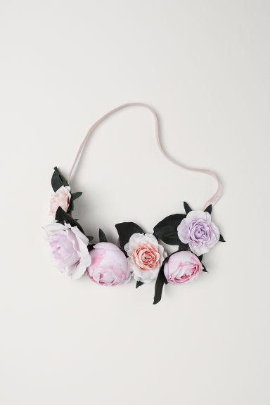 Hairband with flowers - Light purple/Powder pink - Ladies | H&M