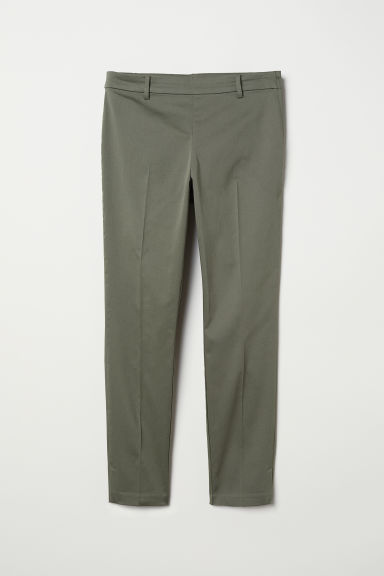 Cigarette trousers - Khaki green - Ladies | H&M