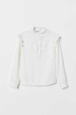 29519e45 Koszulki i bluzki dziewczęce – online lub w sklepie | H&M PL
