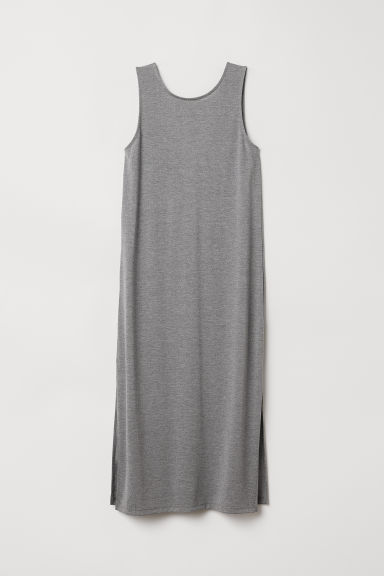 Sleeveless jersey dress - Grey marl - Ladies | H&M