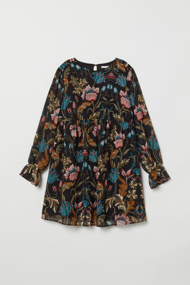 MAMA Patterned tunic - Black/Floral - Ladies | H&M CN