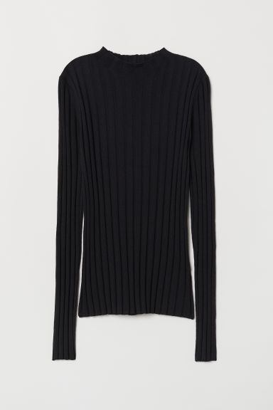 Fine-knit merino wool jumper - Dark blue - Ladies | H&M