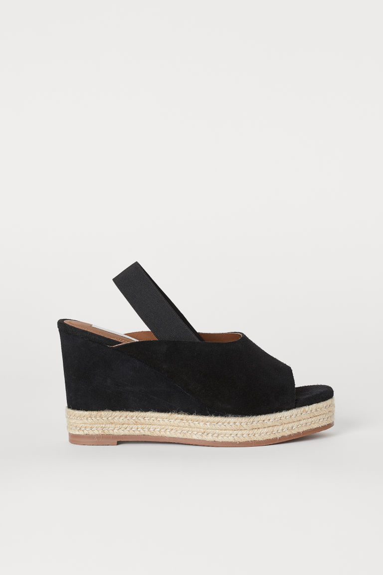 Suede Sandals - Black - Ladies | H&M US