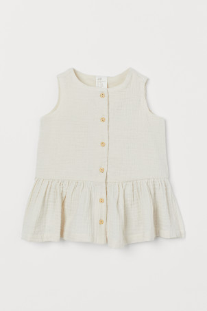 Robe en coton double tissage