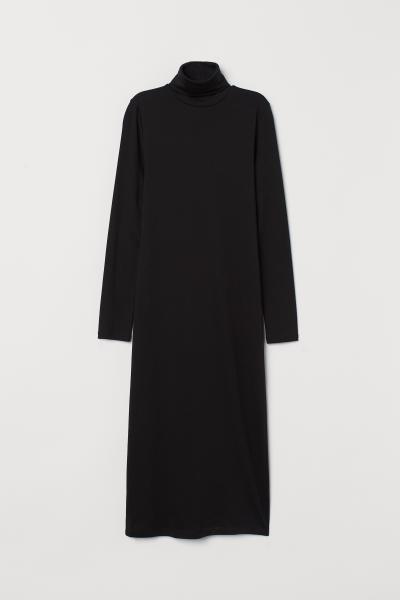 H&M - Vestido cuello alto en punto - 5