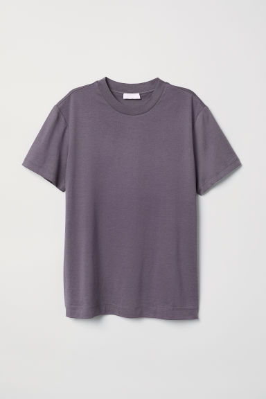 Top in jersey di misto seta - Viola erica scuro - DONNA | H&M IT