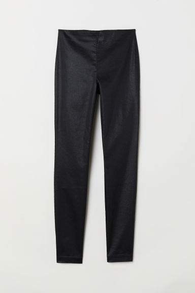 Treggings - Black/Coated - Ladies | H&M