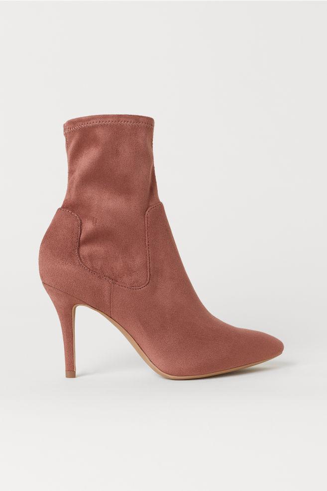 23bc462cff1 Sock Boots - Dark dusty rose - Ladies