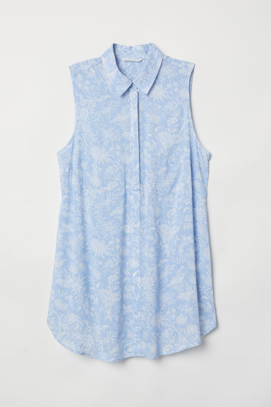 MAMA Sleeveless blouse - Light blue/Patterned - Ladies | H&M CN