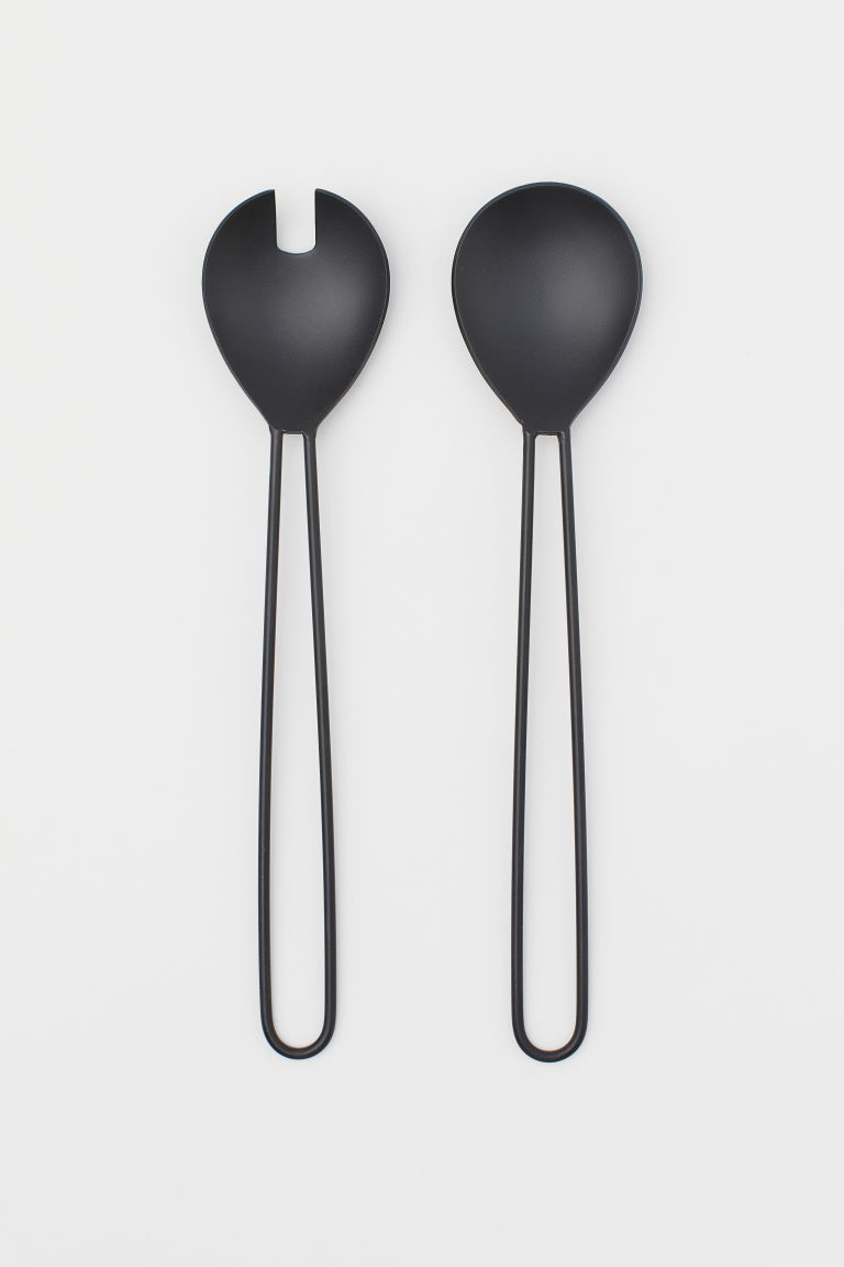 Metal salad servers - Black -  | H&M GB