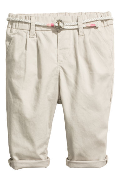 Chinos - Light beige - Kids | H&M CN