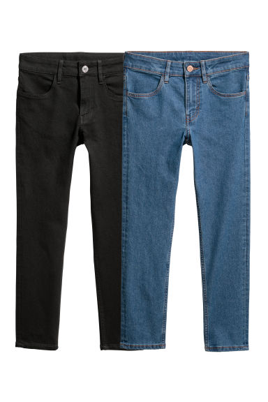 2-pack Skinny Fit Jeans - Black/Blue - Kids | H&M