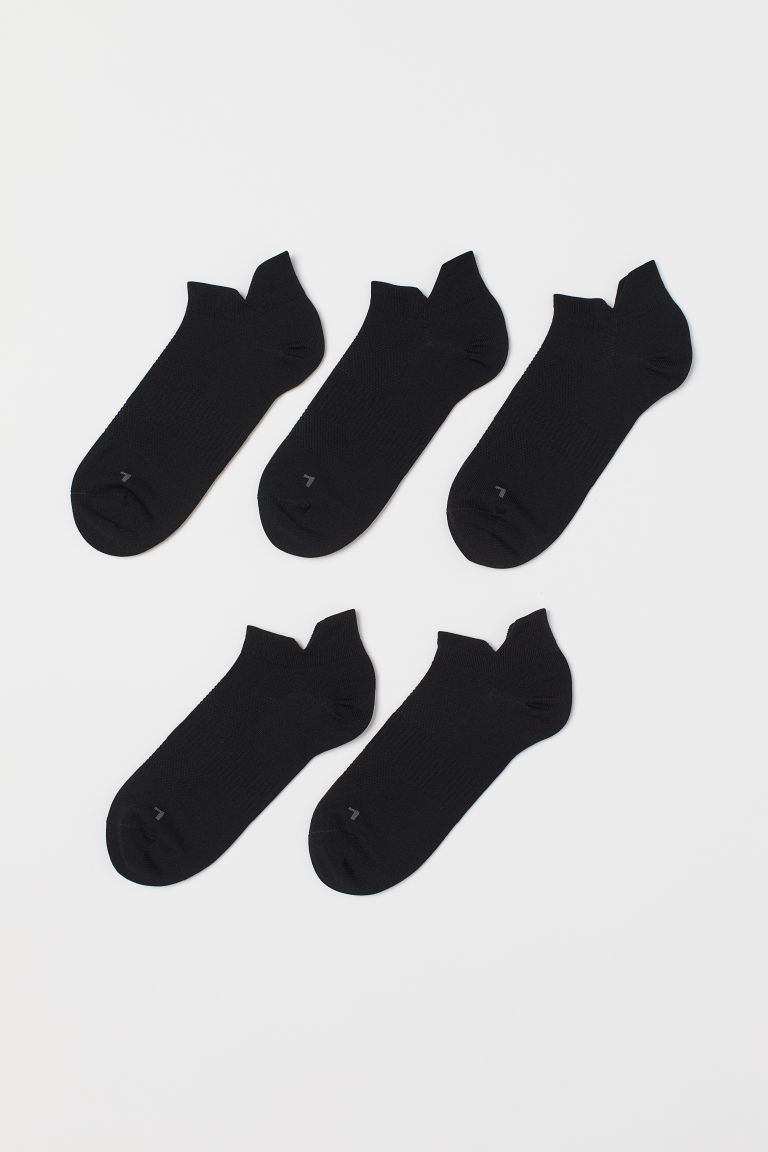 5-pack sports socks - Black -  | H&M IE