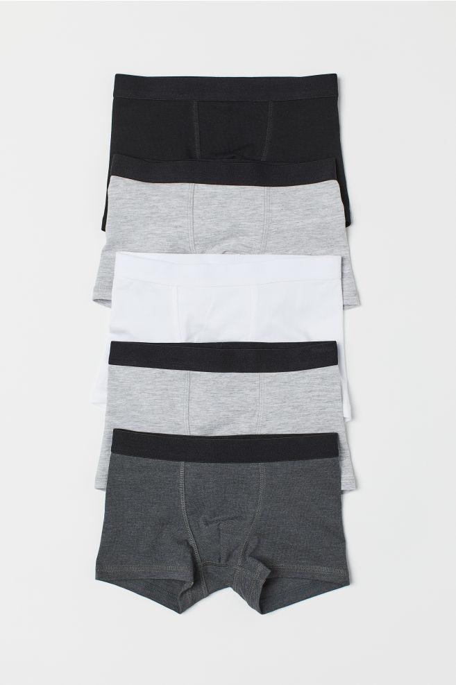 b2b0288b9 5-pack boxer shorts - Light grey marl - Kids