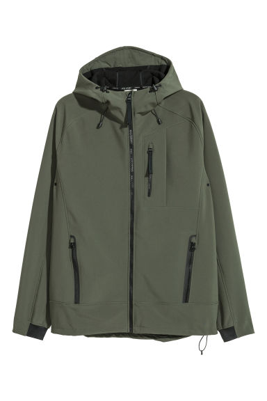Softshell jacket - Khaki green - Men | H&M IE