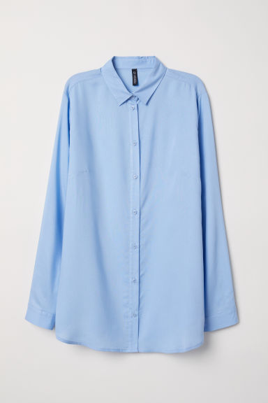 Viscose shirt - Light blue -  | H&M CN
