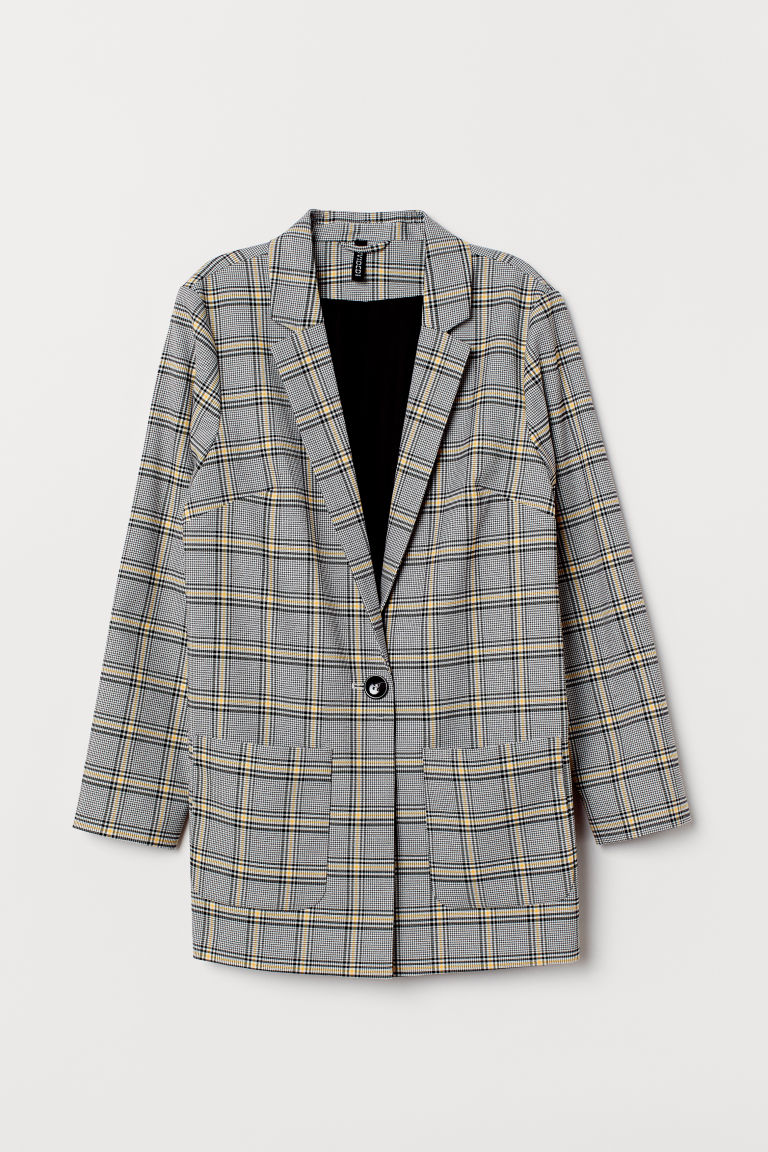 Checked jacket - Black/Yellow checked -  | H&M GB