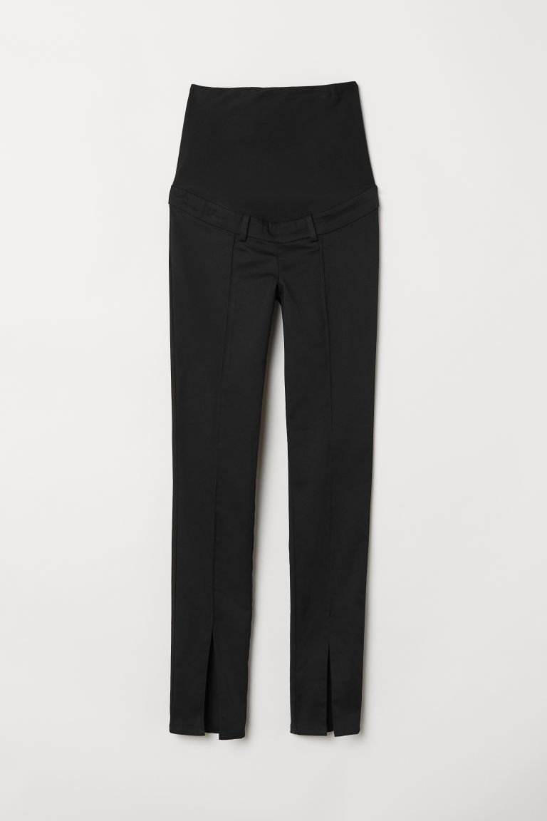MAMA Trousers with slits - Black -  | H&M CN