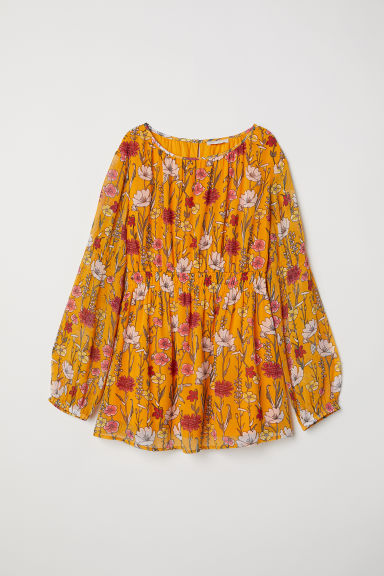 MAMA Patterned blouse - Orange/Floral - Ladies | H&M CN