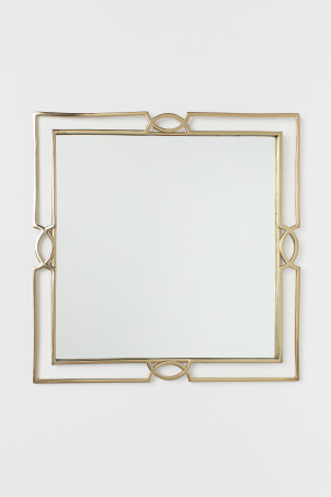 Mirror with a metal frame