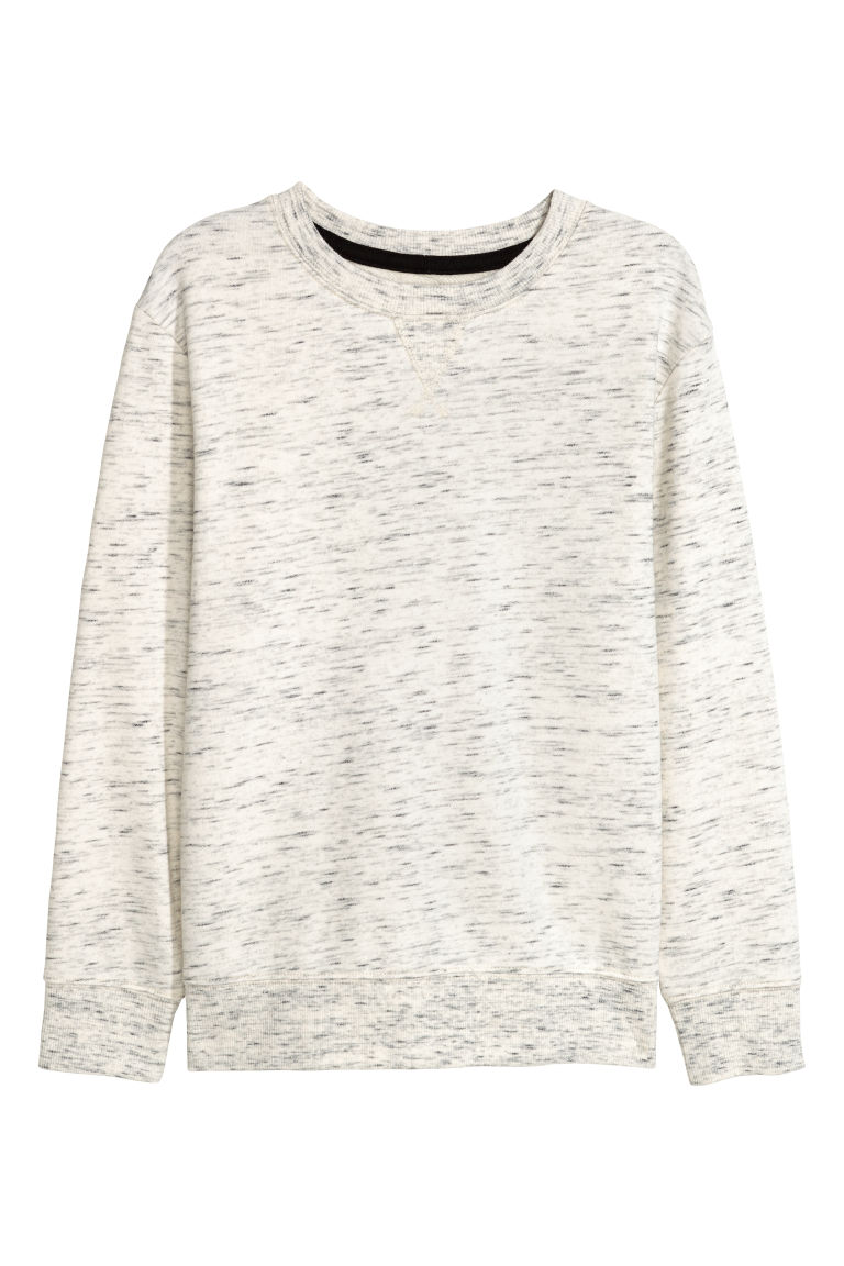 Sweatshirt - Light beige marl - Kids | H&M CN