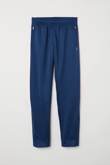 Sports trousers - Dark blue/Orange - Kids | H&M