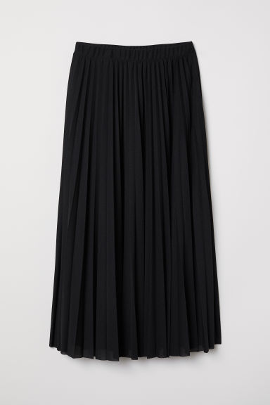 Pleated Skirt - Black - Ladies | H&M US