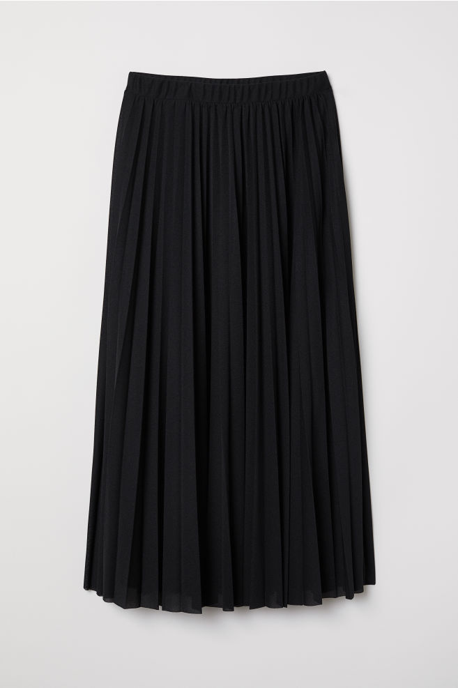 0b2719077e Pleated Skirt - Black - Ladies | H&M ...