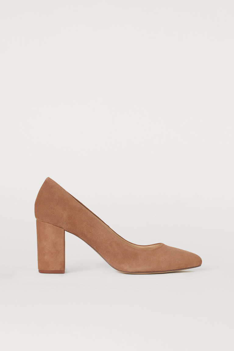 Suede Pumps - Light brown - Ladies | H&M CA