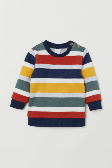 Sweatshirt - Blue/Striped -  | H&M