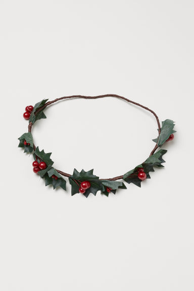 Holly hair decoration - Green/Red - Ladies | H&M IE