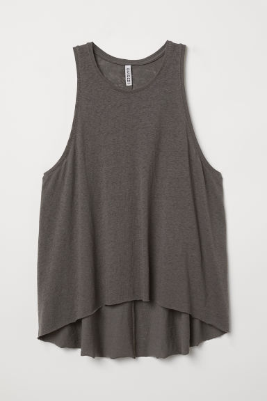 Vest top - Dark grey - Ladies | H&M