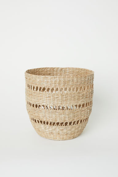 Seagrass storage basket - Beige/Seagrass - Home All | H&M CN
