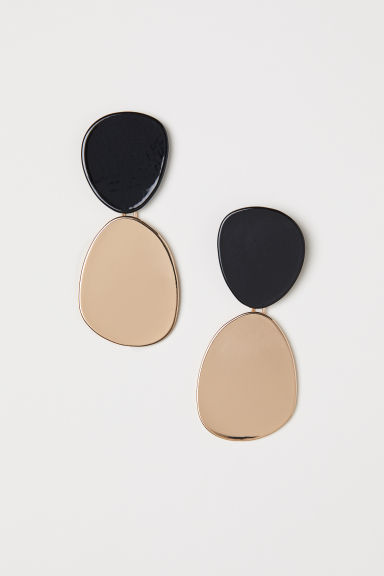 Large Earrings - Black/gold-colored - Ladies | H&M CA