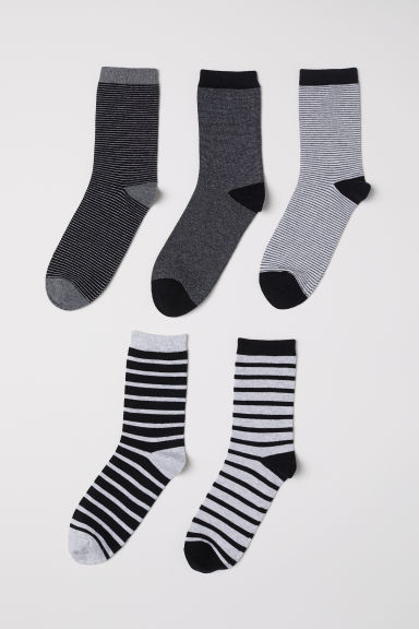 5-pack socks - Grey/Striped - Kids | H&M