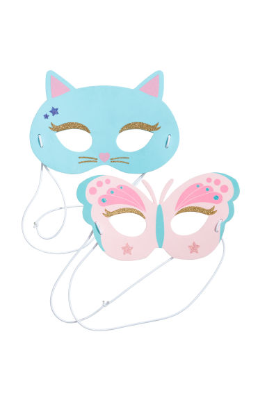 2-pack fancy dress masks - Light blue/Cat -  | H&M