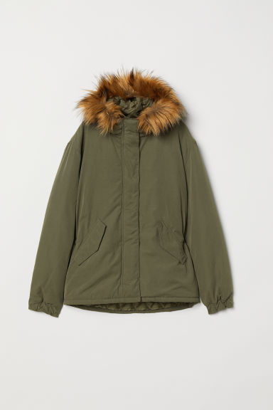 Padded jacket - Dark khaki green -  | H&M