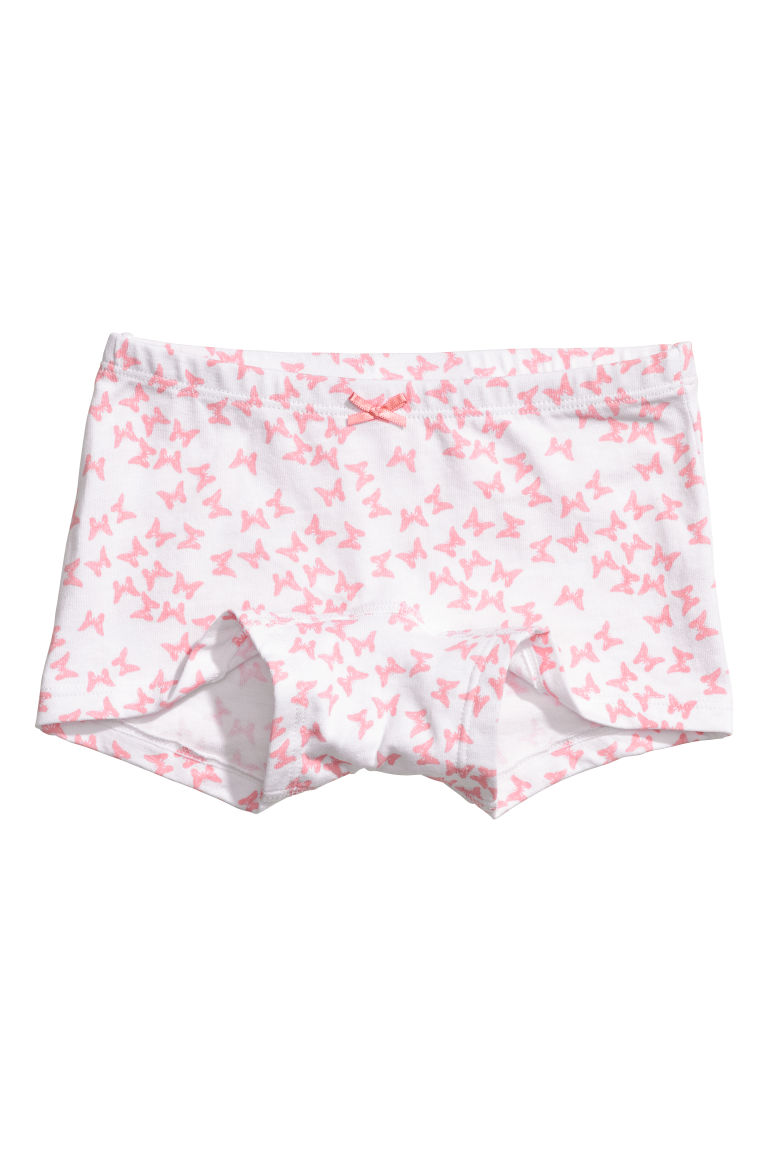 5-pack boxer briefs - White/Butterflies - Kids | H&M