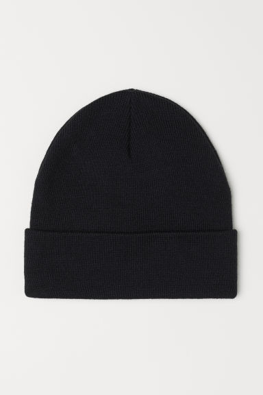 Knitted hat - Black -  | H&M