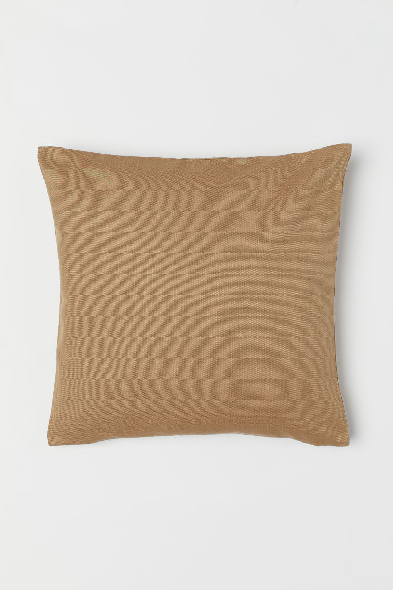 Copricuscino in tela di cotone - Beige scuro - HOME | H&M IT