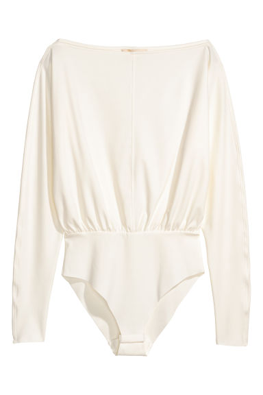 Long-sleeved body - White - Ladies | H&M