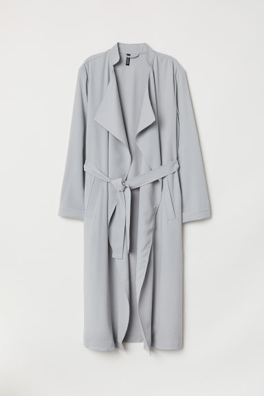 Trench-coat long - Gris clair -  | H&M FR